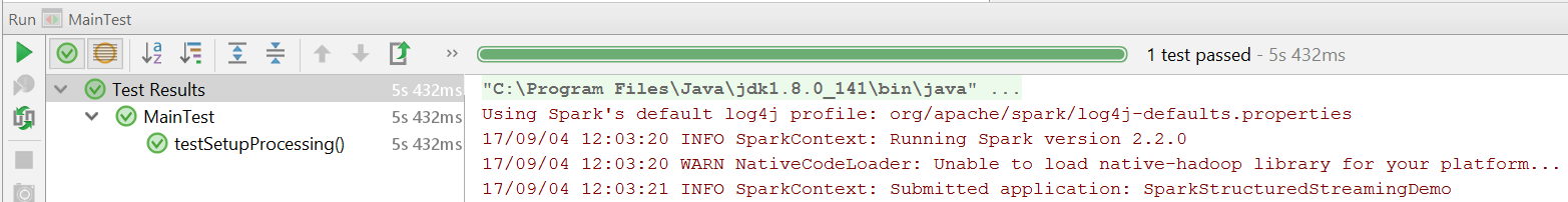 Unit-Testing Spark Structured Streaming queries